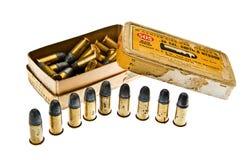 Amunicje pudełkowaty cal 38 S & W spanish cywilna wojna zdjęcie stock