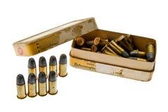 Amunicje pudełkowaty cal 38 S & W spanish cywilna wojna 3 obrazy royalty free