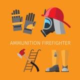 Amunition de sapeur-pompier illustration de vecteur