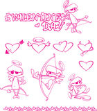 Amur. Illustration Valentine Day, the size of larger side 4000 pixels + (vector) EPS format Royalty Free Stock Photo