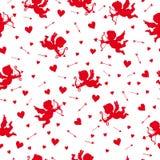 Amur love cupid pattern Stock Image