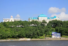Amur River embankment in Khabarovsk Stock Photos