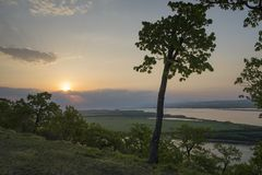 The Amur River near the town of Amursk. Khabarovsk region of the. Russian Far East royalty free stock photos