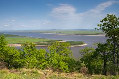 The Amur River near the town of Amursk. Khabarovsk region of the. Russian Far East stock photos