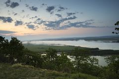 The Amur River near the town of Amursk. Khabarovsk region of the. Russian Far East stock photo
