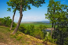 The Amur River near the town of Amursk. Khabarovsk region of the. Russian Far East royalty free stock photography