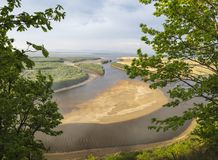 The Amur River near the village of Ommi. Khabarovsk Regionin the. The Amur River near the village of Ommi. Khabarovsk Region in the Russian Far East stock photos