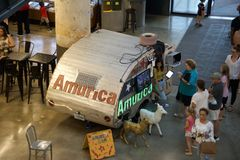Amurica inside the Crosstown Concourse, Memphis, Tennessee. Amurica inside the Crosstown Concourse Shopping and Entertainment District, Memphis, Tennessee, This stock image