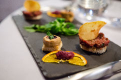 Amuse-bouche In A Fancy Restaurant Royalty Free Stock Photography