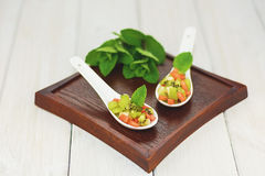 Amuse made of watermelon banana and kiwi Royalty Free Stock Images