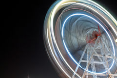 Amusemant park - India. Marry go round at riverfront of Ahmadabad Gujarat Sabarmati river bank, an amusement park where this image taken as light trails Stock Photos