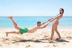Amusement à la plage Images stock
