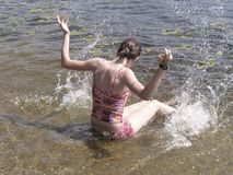 Amusement à la plage 1 Photos libres de droits