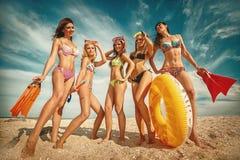 Amusement à la plage photo stock