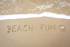 Amusement à la plage photographie stock libre de droits