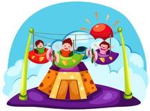 Amusement. Illustration of landscape cartoon amusement Stock Images