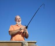 Amusement aîné de pêche Image libre de droits