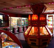 Amusement arcade machines Stock Image