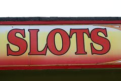 Amusement arcade sign. Slots sign Stock Photography