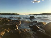 Amusement au lac photo libre de droits