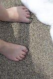 Amusement au soleil à la plage Photos libres de droits