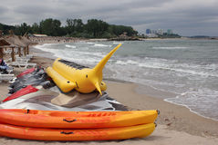 Amusement on the beach stock photos