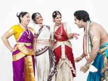 amusement classique de danseurs ayant Images libres de droits