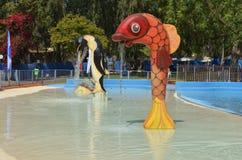 Amusement d'été au parc aquatique Images stock