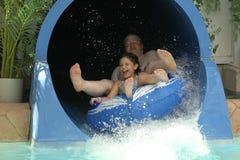 Amusement d'été avec le papa Images libres de droits