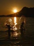 Amusement d'été en mer Image libre de droits