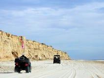 Amusement d'ATV sur Shoreline de mer de Cortez près d'EL Golfo De Santa Clara, Sonora, Mexique Photos libres de droits
