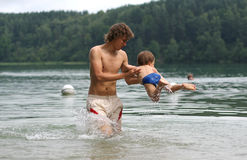 Amusement dans l'eau Photos stock