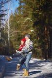 Amusement dans la forêt image libre de droits