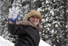 Amusement dans la neige images libres de droits