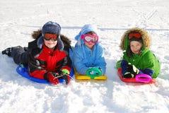 Amusement dans la neige photo stock