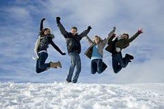 Amusement dans la neige Photos stock