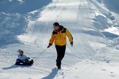 Amusement dans la neige Image stock
