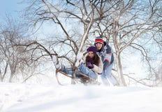 Amusement dans la neige Photographie stock libre de droits