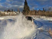 Amusement dans la neige images stock