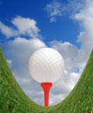 Amusement dans le golf Photos stock