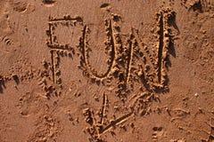Amusement dans le sable Photos stock