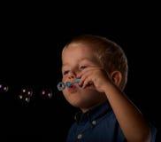 Amusement de bulle de savon Images libres de droits