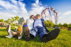 Amusement de cérémonie de mariage Photo stock