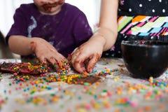Amusement de chocolat Image libre de droits