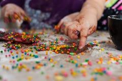 Amusement de chocolat Photographie stock libre de droits
