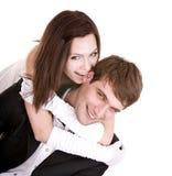 amusement de couples ayant Photographie stock