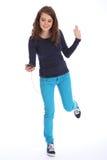 Amusement de danse à l'adolescente et au téléphone portable de musique Photo libre de droits
