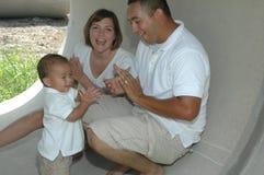 Amusement de famille Photographie stock libre de droits