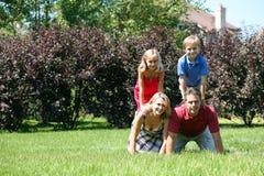Amusement de famille Photographie stock