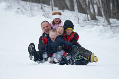Amusement de famille Image libre de droits